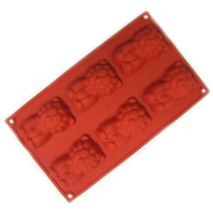 J033_L_獅子造型矽膠模-6入